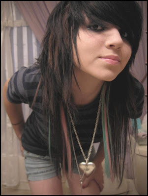 Scene girls hairstyles 2009