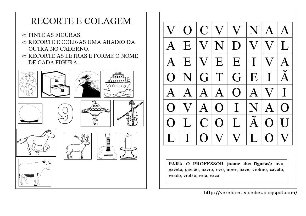 Montagem De Palavras   Recorte E Colagem