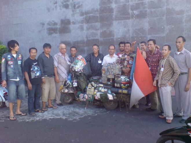 keliling indonesia naik scooter Hendra Jaya (Mavec Bengkulu)