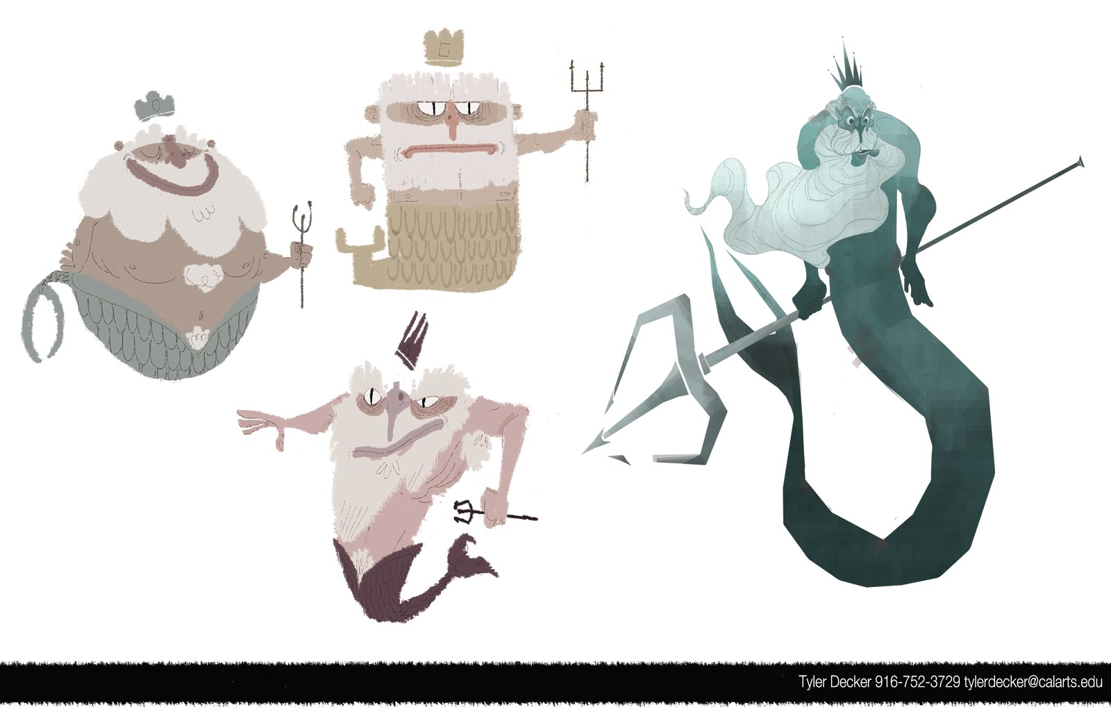 Character Design Visual Development Portfolio : Tyler decker portfolio character design