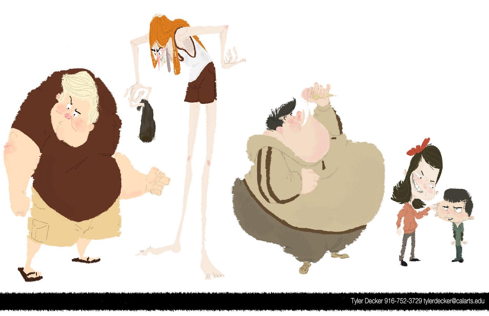 Character Design Visual Development Portfolio : Tyler decker portfolio character design
