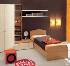 Dormitorio Juvenil en marrón