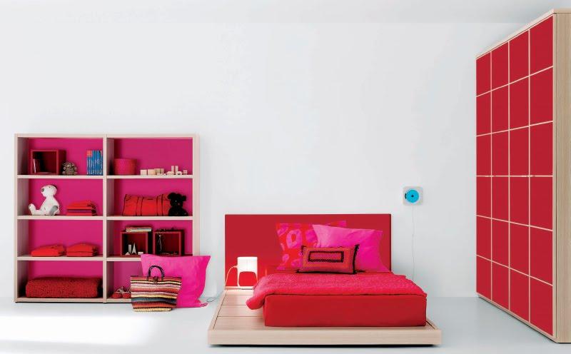 Habitaciones Juveniles Decoradas En Rojo ~   minimalistas juveniles para jovencitas y jovencitos en color rojo