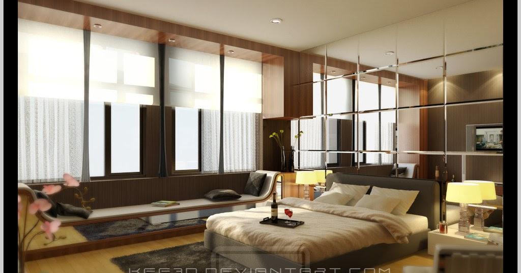 Espejos en la cabecera nca master bedroom by - Espejos en dormitorios ...