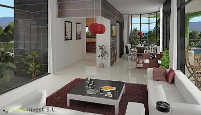 Plano 3d de casa de una sola planta planos de casas - Planos casa una planta ...