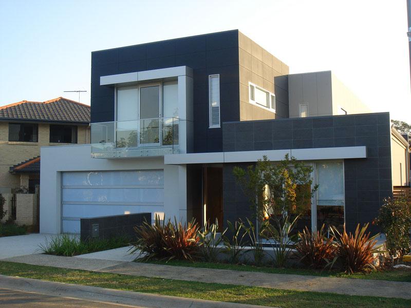 Fachada moderna casas sostenibles fachadas de casas y for Casas para herramientas de jardin