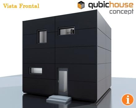 Casa minimalista y economica en forma de cubo fachadas for Casa minimalista 100 metros