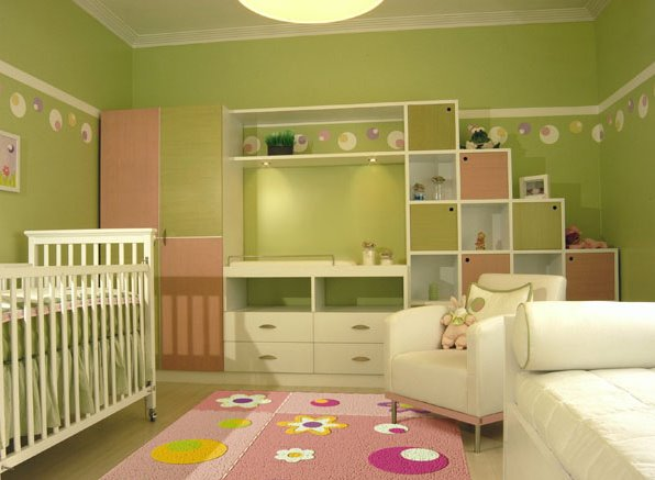 Best home design modern dormitorios para bebes mujeres - Dormitorio verde ...