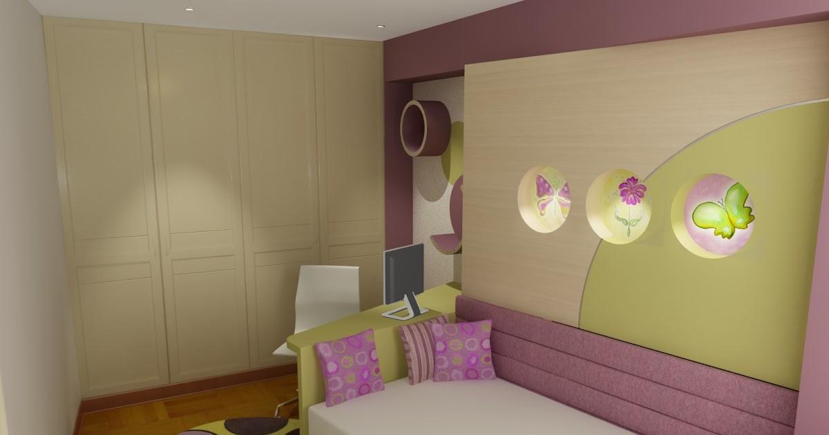 Dormitorio lila rosa crema verde - Como decorar un dormitorio juvenil ...