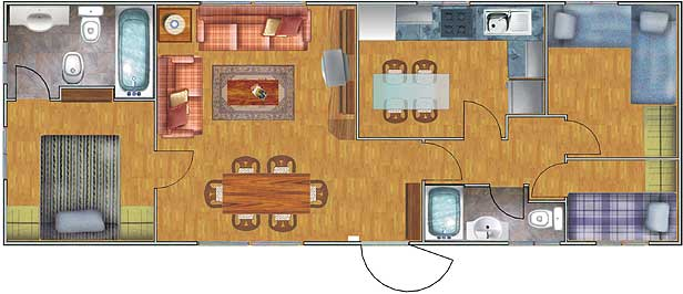 Planos de casas de 52 60m2 con 3 dormitorios planos de for Diseno de apartamento de 60m2