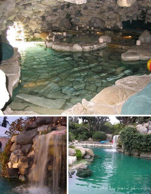 Piscinas con cascada artificial y caidas de agua for Cascadas prefabricadas