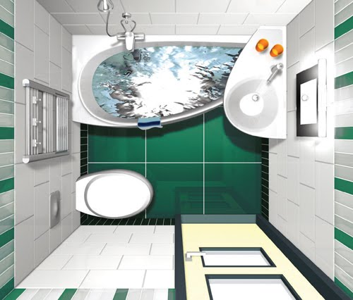 Baños Medidas Planos:Small Bathroom Floor Plans