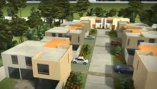 FACHADA DE CONDOMINIO - VIDEO DE CASAS DE 2 PISOS EN 3D by dormitorios.blogspot.com