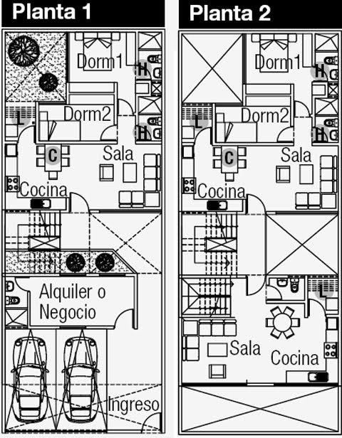 Planos de departamentos y negocio en el primer piso en for Paginas para hacer planos de casas gratis