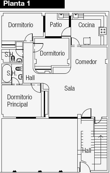 Planos de casas gratis y departamentos en venta planos de for Plano apartamento 3 habitaciones