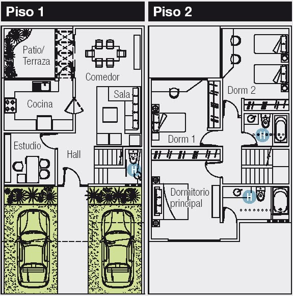 Planos de casas gratis y departamentos en venta plano de for Disenos de casas 120 m2