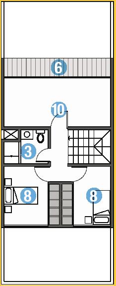 planos de casa para un pequeno terreno pequeno de 6 metros de frente y