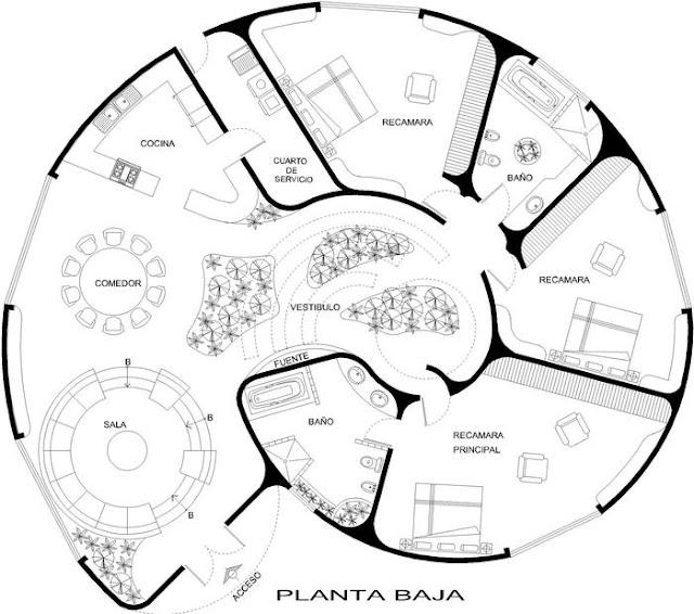 Plano de casa con forma de caracol planos de casas for Conceptualizacion de la arquitectura