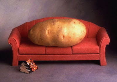 The word you're looking for is 'Couch Potato'