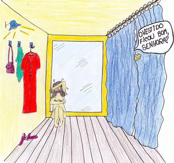 Experimentando roupas...