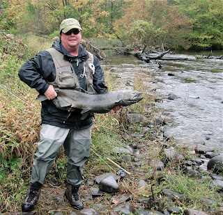 Hard fighting salmon and trout make the fall run on the Salmon river a real challenge.