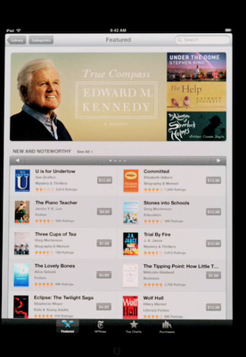 Stephen King's Under the Dome featured in iBookstore on Apple iPad