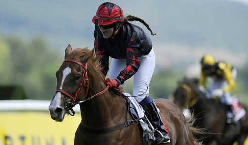 Czech Derby winner Talgado ridden by 16-year-old Maria Magdalena Rossak