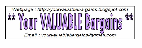 ** Your VALUABLE Bargains **