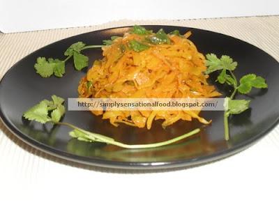 Cabbage sabji (dry)- A simple vegetarian side dish accompaniment made ...