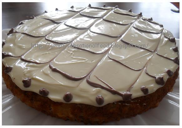white chocolate cake Photo