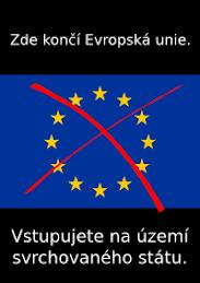 Zde končí EU - samolepa k zakoupení