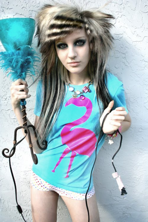 Hairstyles emo girls punk long for
