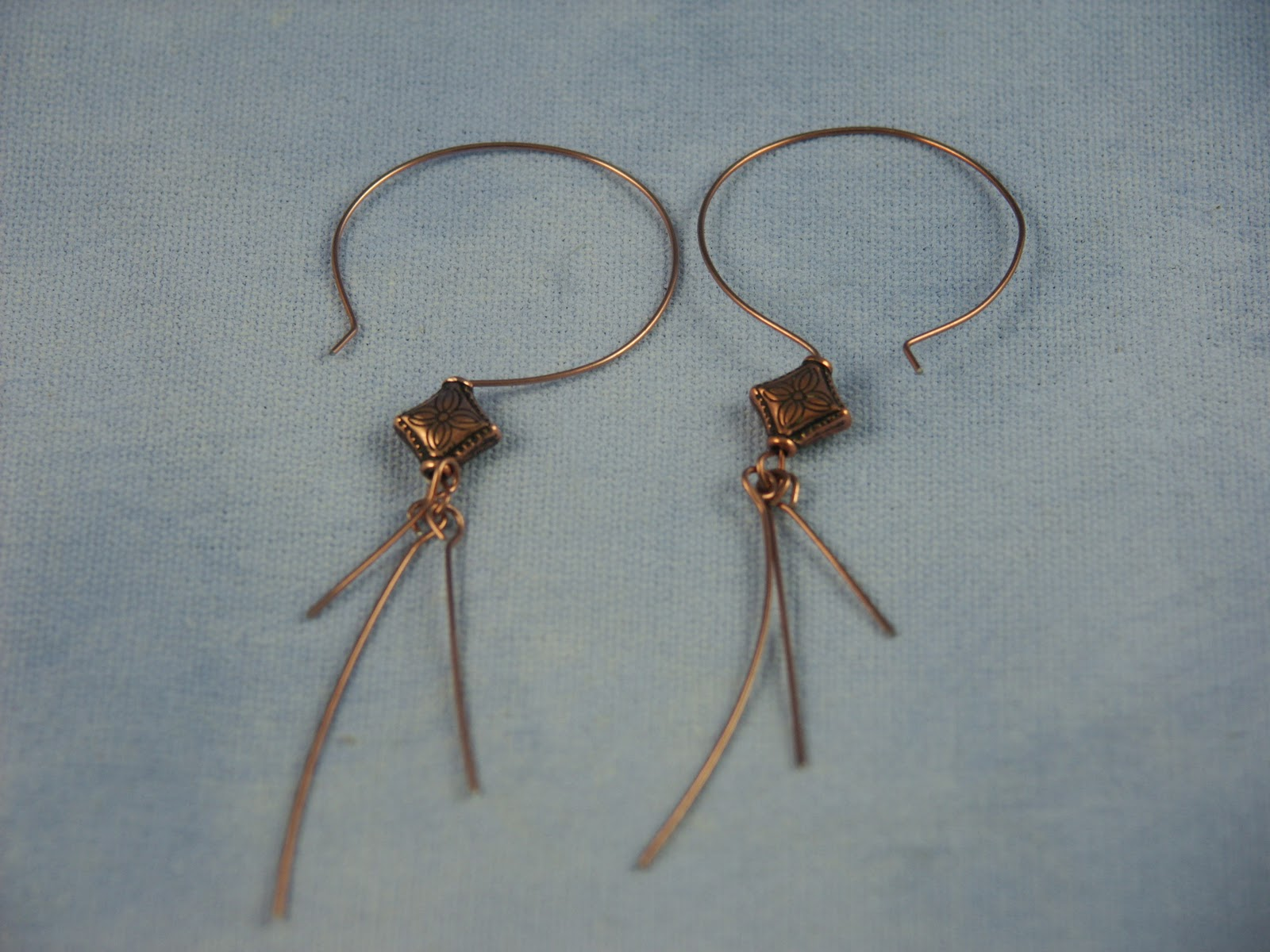 New Jewelry A Day: Make Earrings from Copper Wire