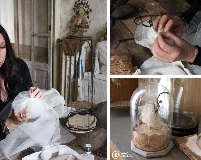 Pascale Palun travaille dans son atelier Rue Petite Fusterie
