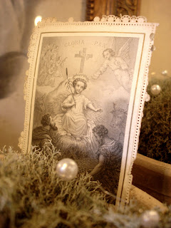 Holy picture of Christmas Gloria Pax