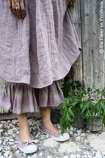 Barbara Lang dress and pantaloons in linen