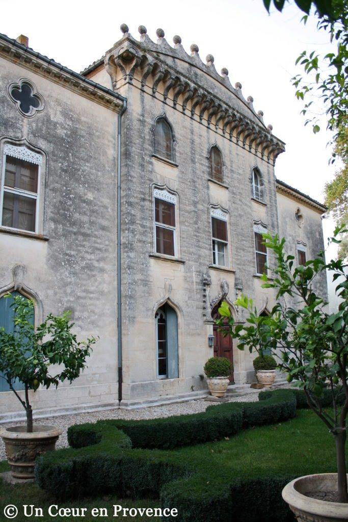 Façade du château de Christin