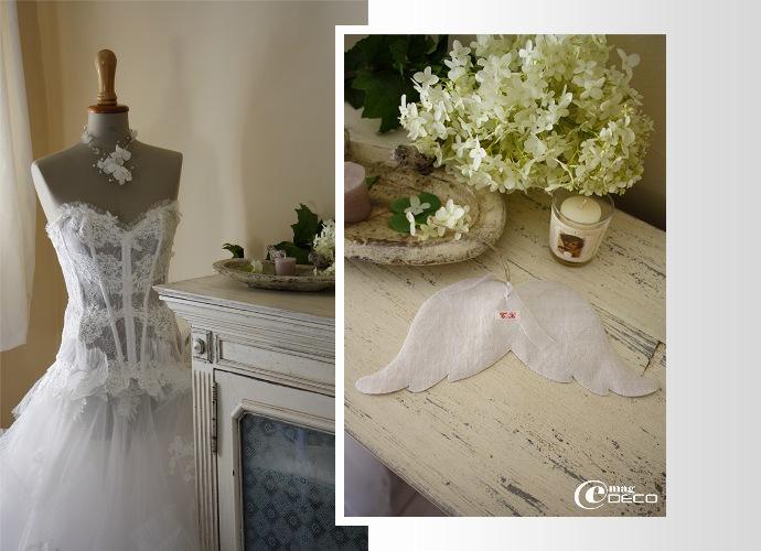 Mannequin et robe de mariée