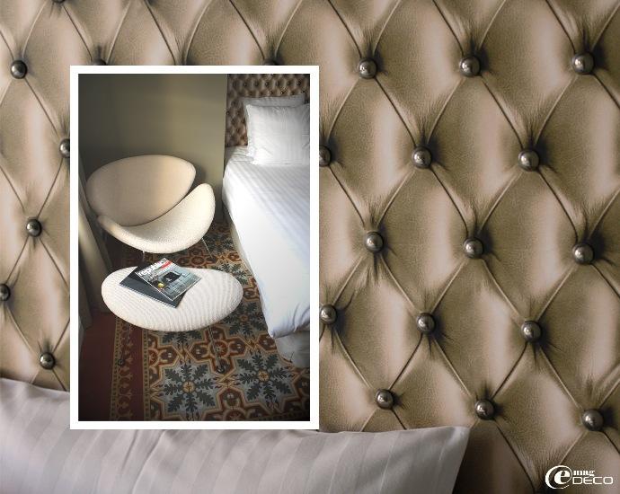 Détail de la tête de lit de la chambre Naos - Maison d'hôtes Les 4 étoiles