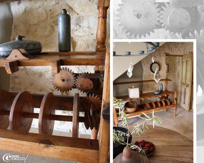 Ancien métier en bois de filature