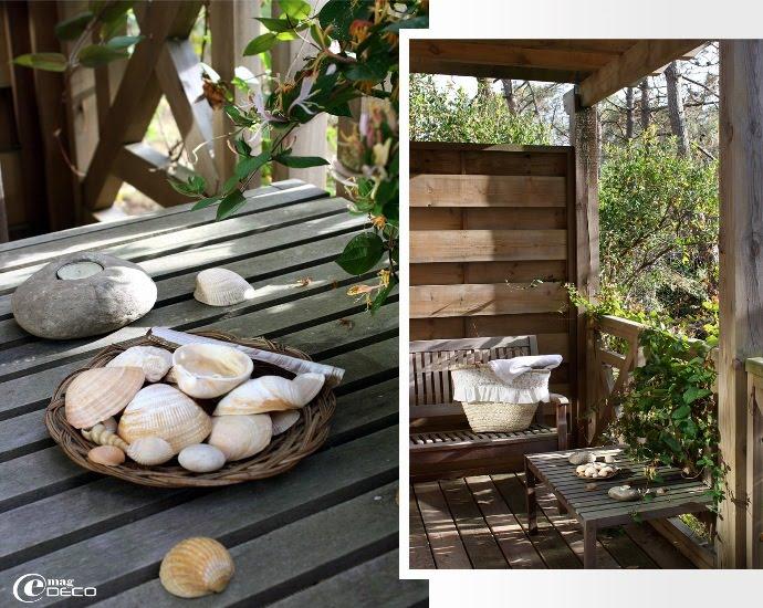 Terrasse en bois du Yamina Lodge au Cap Ferret dans la Gironde