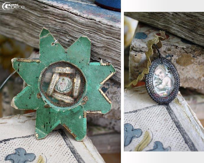 Reliquaire du XIXème siècle en forme d'étoile