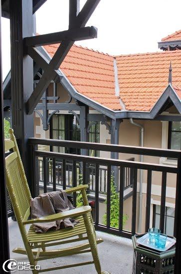 Terrasse d'une des chambres de l'Hôtel Ville d'Hiver