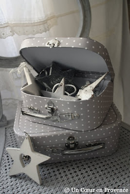 Small starry suitcases