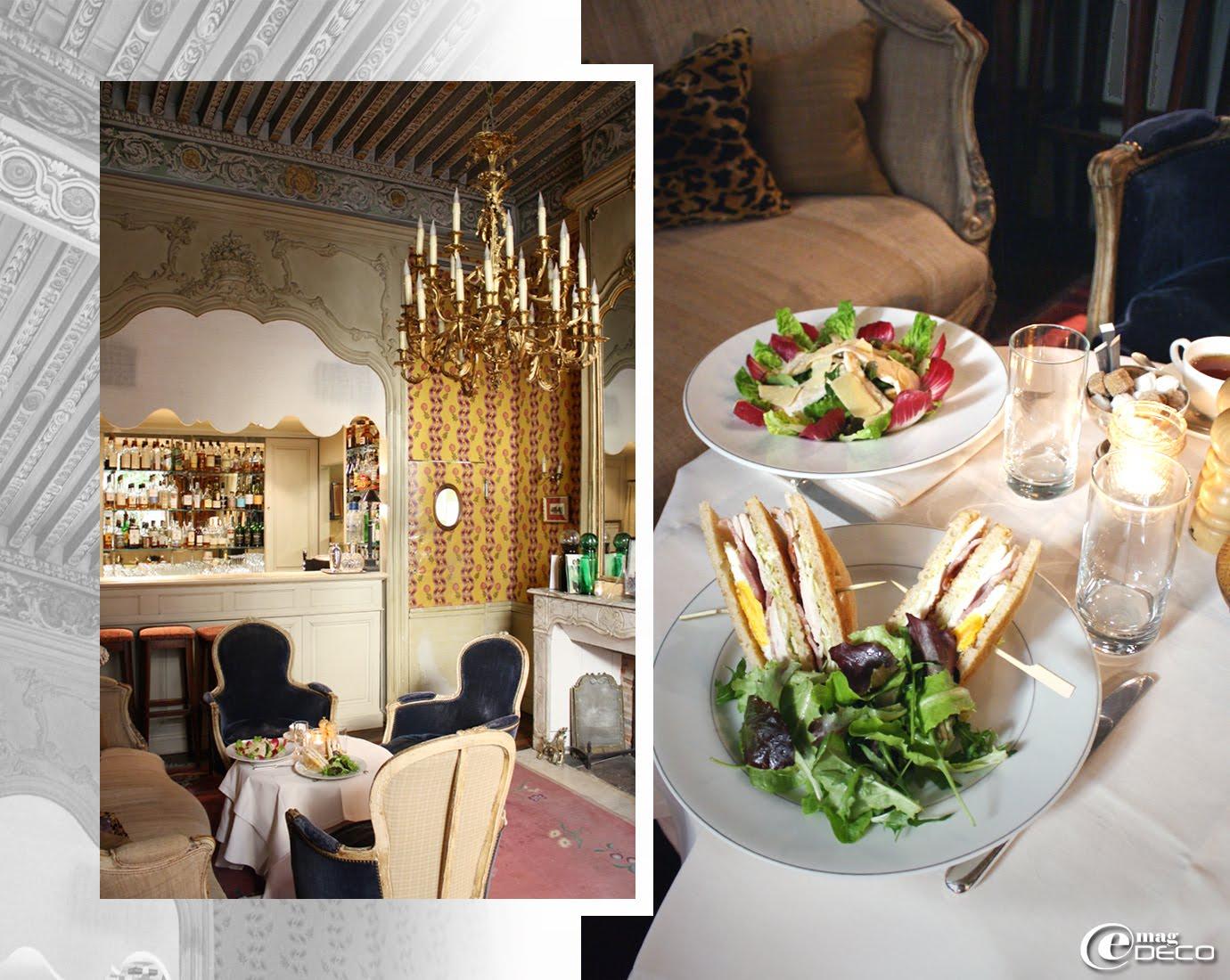 Le bar de l'Hôtel La Mirande