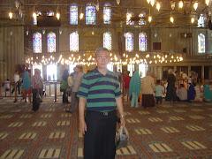 Masjid Biru sesudah shalat Jumat