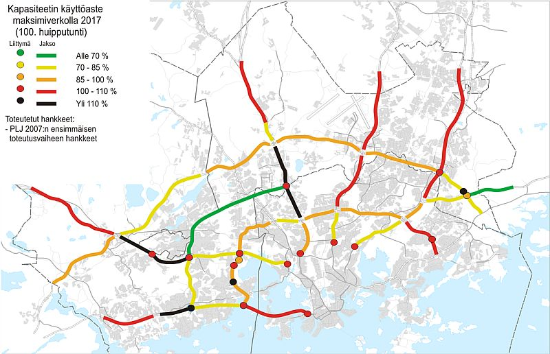 Liikennetilanne pääkaupunkiseutu