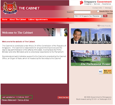 Picture Singapore Government on News Release By Uncleyap  Www Cabinet Gov Sg Alseep For 6 Month