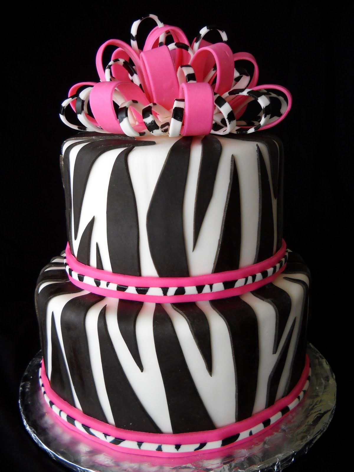 Cake With Zebra Design : Violet s Custom Cakes: March 2010