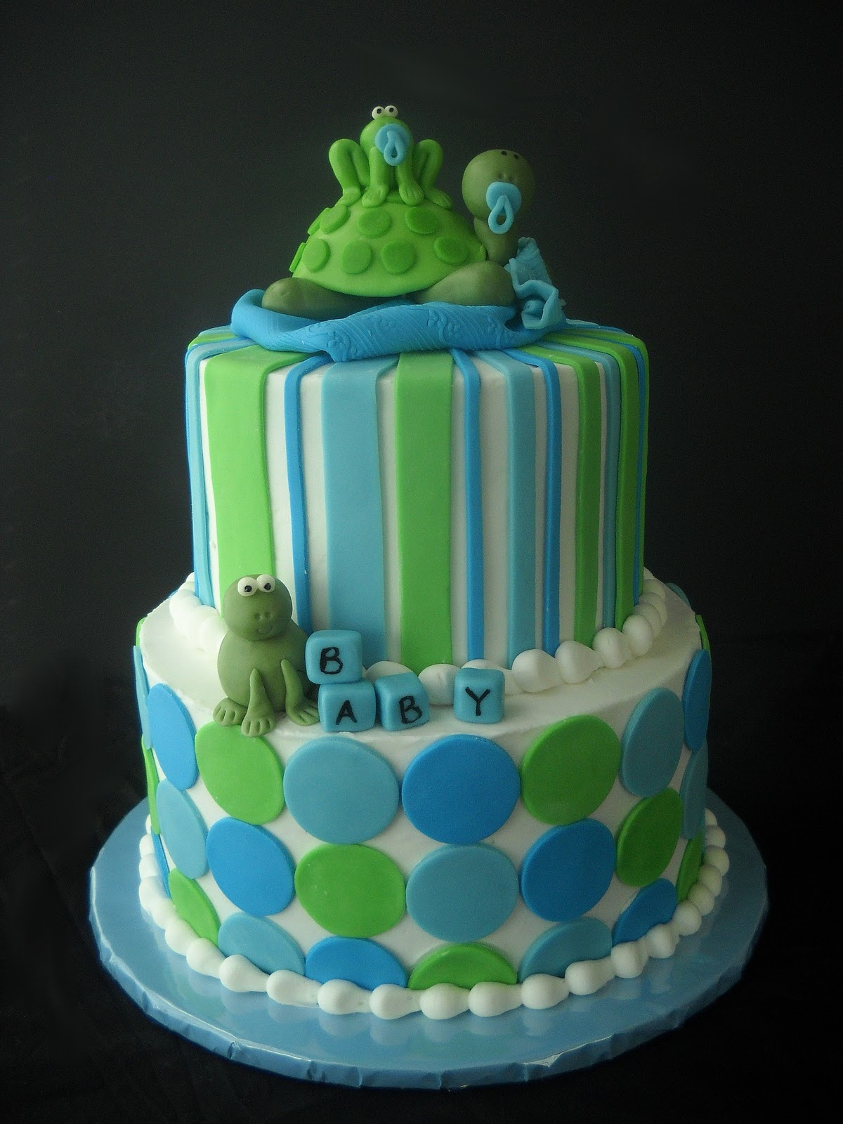 violet 39 s custom cakes hoppin 39 turtle baby shower